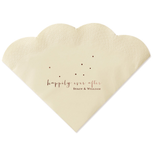 Happily Ever After Dots Napkin
