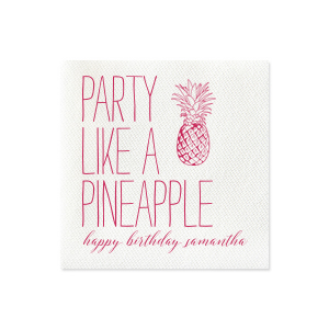 Party Pineapple Napkin