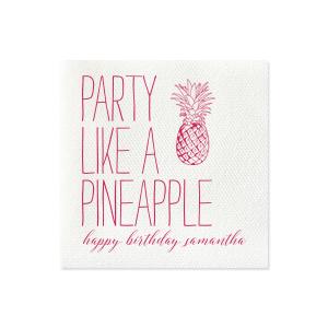 Party Pineapple Napkin