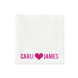 Heart and Names Napkin