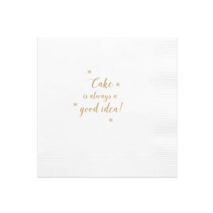 Cake a Good Idea Napkin