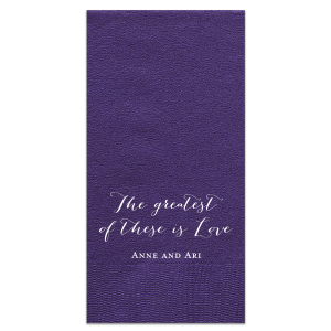 Greatest of These Napkin