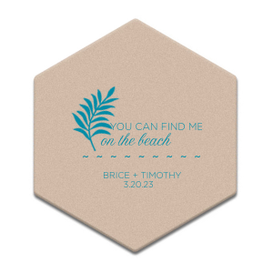 Paradise Wedding Coaster