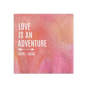 Love is an Adventure Napkin