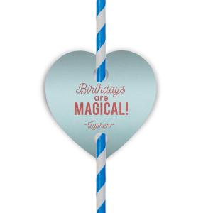 Magical Unicorn Straw Tag