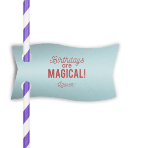 Magical Unicorn Straw Tag