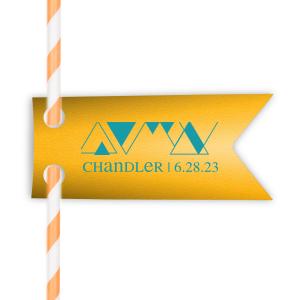 Funky Triangle Straw Tag