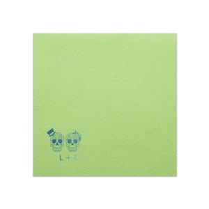 Skull Couple Napkin