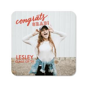 Congrats GRAD Photo/Full Color Coasters