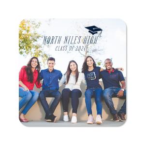 Graduation Cap Photo/Full Color Coaster