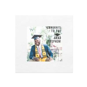 Graduate Photo/Full Color Napkin