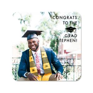 Graduate Photo/Full Color Coaster