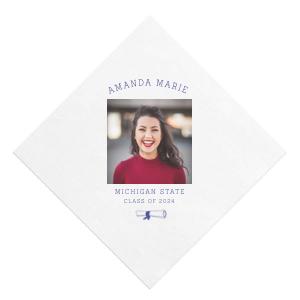 Diploma Photo/Full Color Napkin
