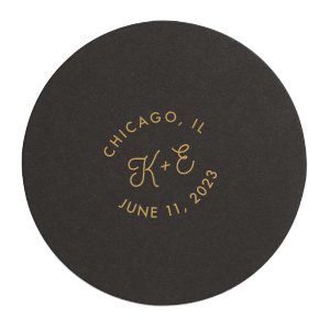 Rounded Initials Wedding Coaster