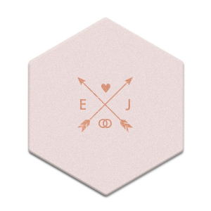 Hearts and Arrows Wedding Coaster