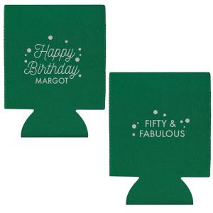 Happy Birthday Confetti Can Cooler