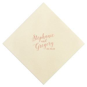 Wedding Couple Script Napkin