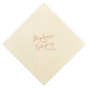Wedding Couple Script Napkin