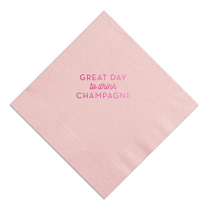 Great Day To Drink Champagne Napkin