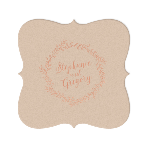 Wedding Couple Script Coaster