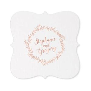 Wedding Couple Script Coaster