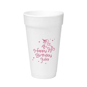 Unicorn Dots Foam Cup