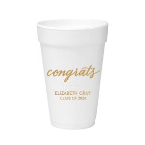 Congrats Foam Cup