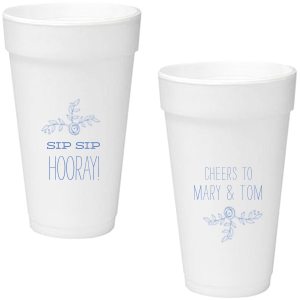 Flower Flourish Foam Cup