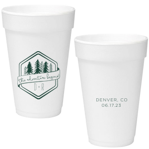 Adventure Badge Foam Cup