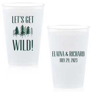 photo of Personalized Wedding Cups   Custom Printed Plastic Cups