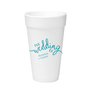 Wedding of Calligraphy Foam Cup