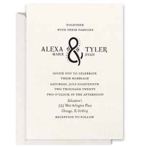 Floral Ampersand Foil Invitation
