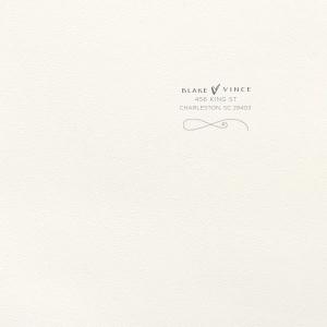 Fancy Flourish Letterpress Envelope