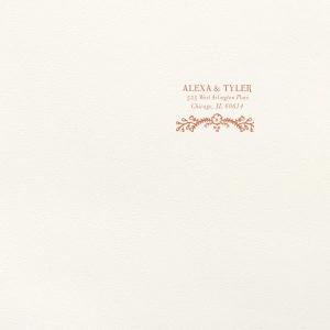 Marigold Flourish Foil Envelope