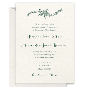 Modern Floral Foil Invitation