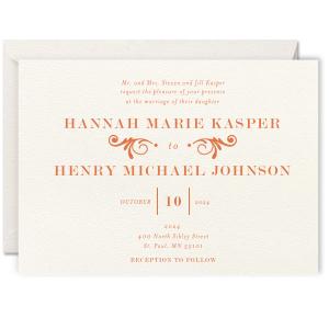 Decorative Flourish Letterpress Invitation