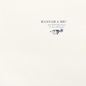 Decorative Flourish Letterpress Envelope