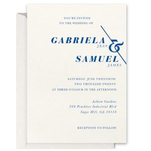 Angled Ampersand Letterpress Invitation