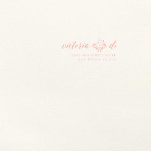 Floral Ampersand Letterpress Envelope