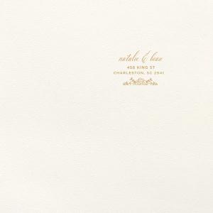 Rose Flourish Foil Envelope