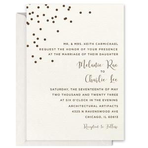 Confetti Foil Invitation