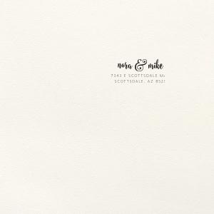Modern Flourish Letterpress Envelope