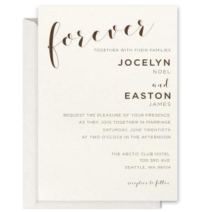 Forever Foil Invitation