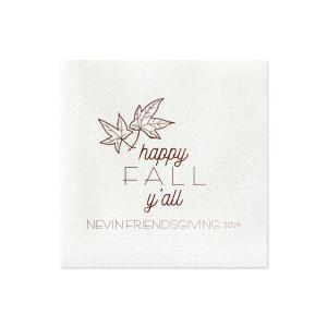 Happy Fall Y'all Napkin
