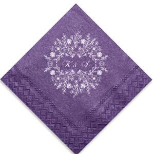 Elegant Floral Frame Napkin