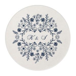 Elegant Floral Frame Coaster