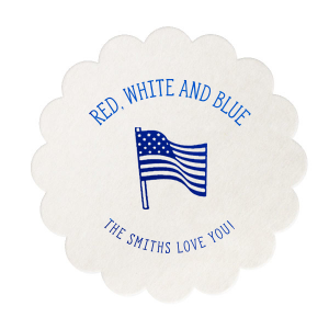 Holiday Flag Coaster