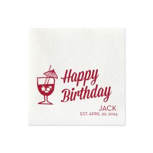 Birthday Tiki Napkin