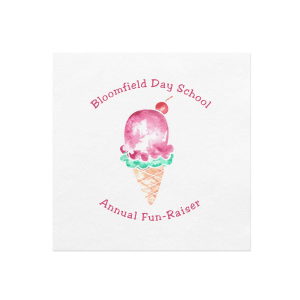 Ice Cream Fun Photo/Full Color Napkin