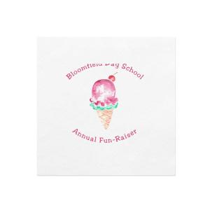 Ice Cream Fun Photo/Full Color Napkin